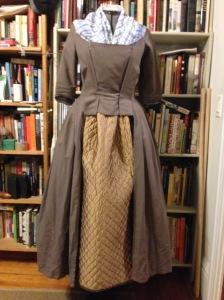 Test run: bedspread petticoat. Girl's gotta keep warm.