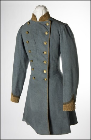 What's wrong with this image? Missouri State Guard uniform coat of Col. Austin M. Standish (Confederate). Missouri Historical Society 1916-045-0001