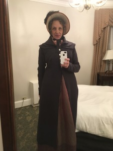 Dressed for the weather: I only seem to wear this pelisse in February.