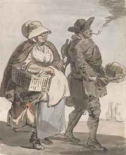 """Paul Sandby RA, 1731–1809, British, London Cries: """"Do You Want any Spoons..."""", ca. 1759, Watercolor, pen and brown ink and graphite on medium, cream, slightly textured laid paper, Yale Center for British Art, Paul Mellon Collection"""