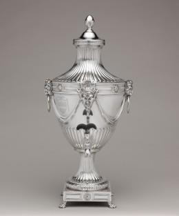 Tea urn. Silver, by John Carter II. 1773-1774. Metropolitan Museum of Art, 11.28a–f