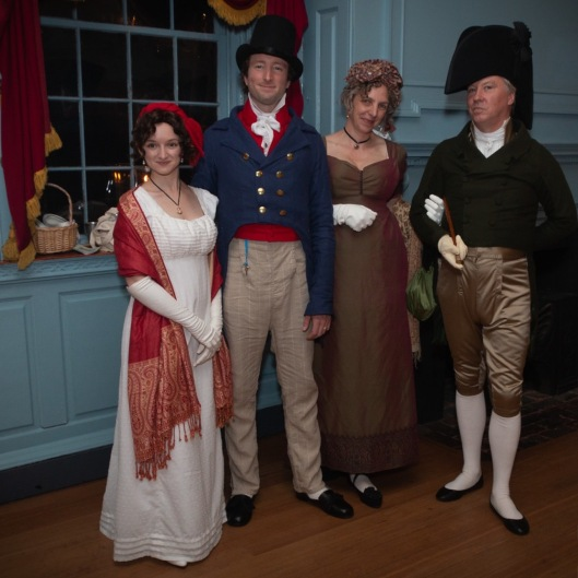 two couples in historical dress