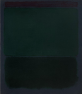 Untitled (Primary Title) oil on canvas by Mark Rothko, 1970. VMFA