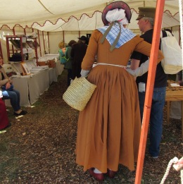 Shopping with a basket at Fort Fred. (photo by Denise Wolff)