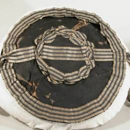 Silk covered chip hat, Snowshill Wade Costume Collection, NT 1349840