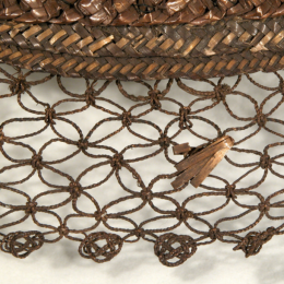 Detail of straw hat, Snowshill Wade Costume Collection, NT 1349843
